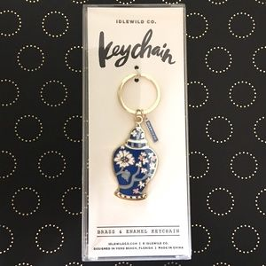 IDLEWILD CO Brass & Enamel Keychain Ginger Jar